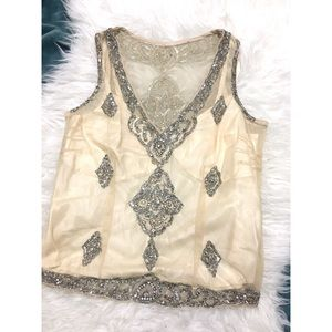 • Tracy Reese sequin embroidered tank size S •